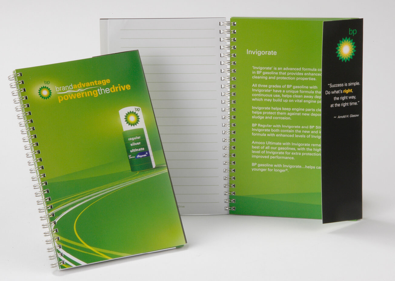 golin bp power the drive notebook image