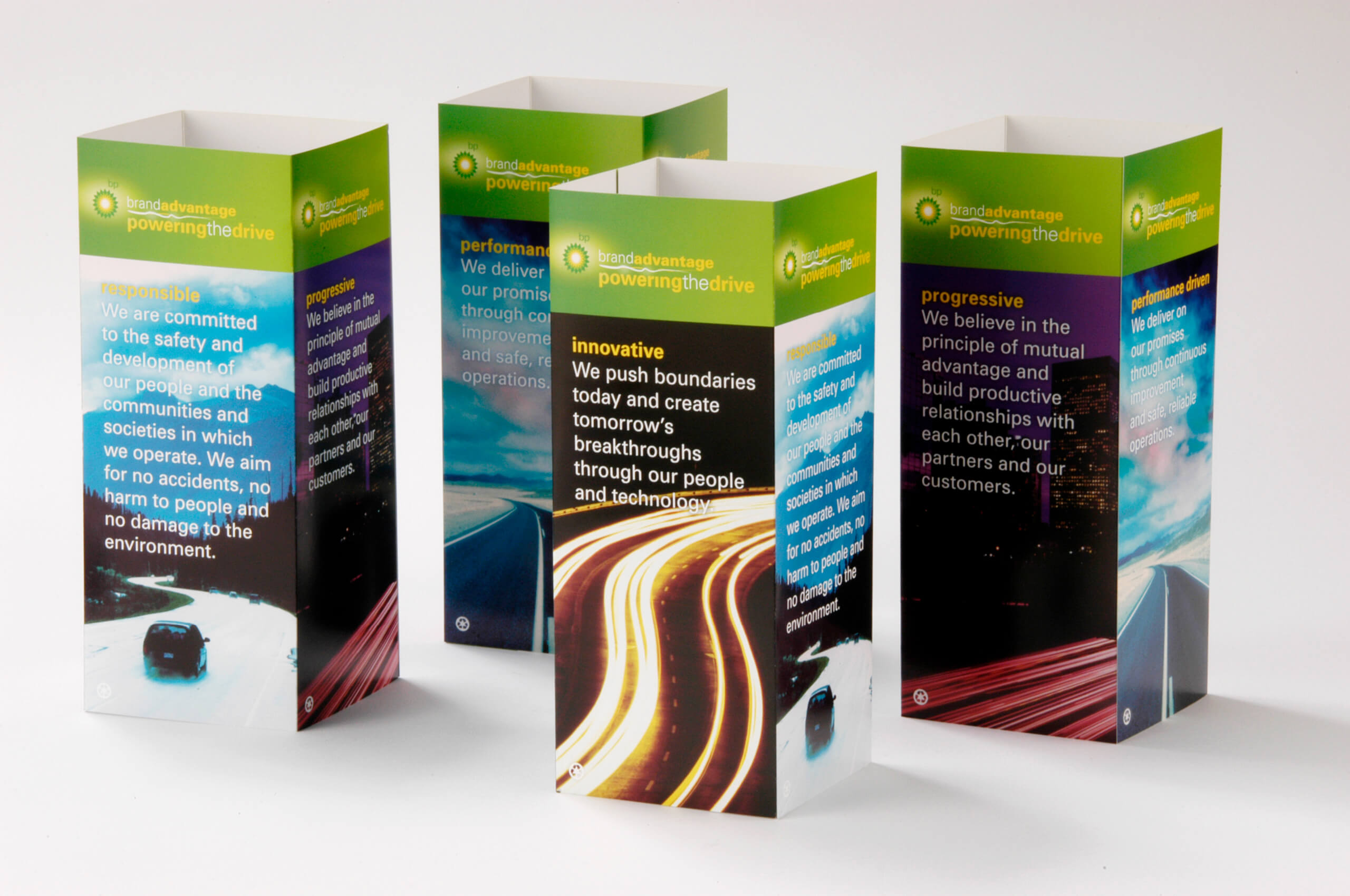 golin bp power the drive table tents image