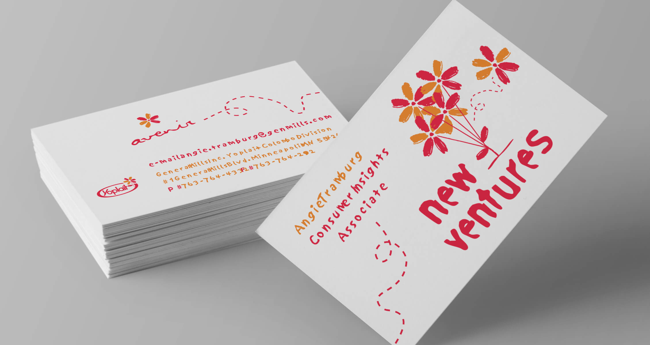 yoplait new ventures business cards image