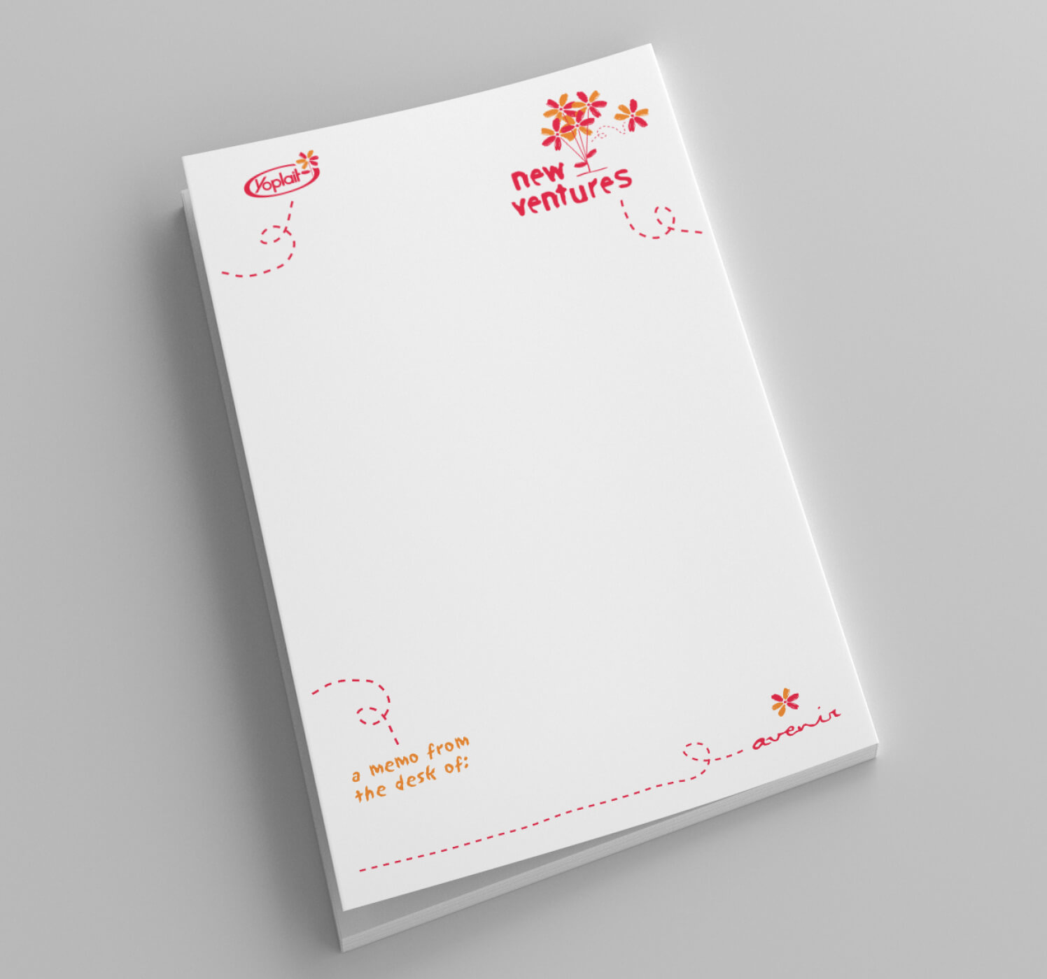 yoplait new ventures memo pad image