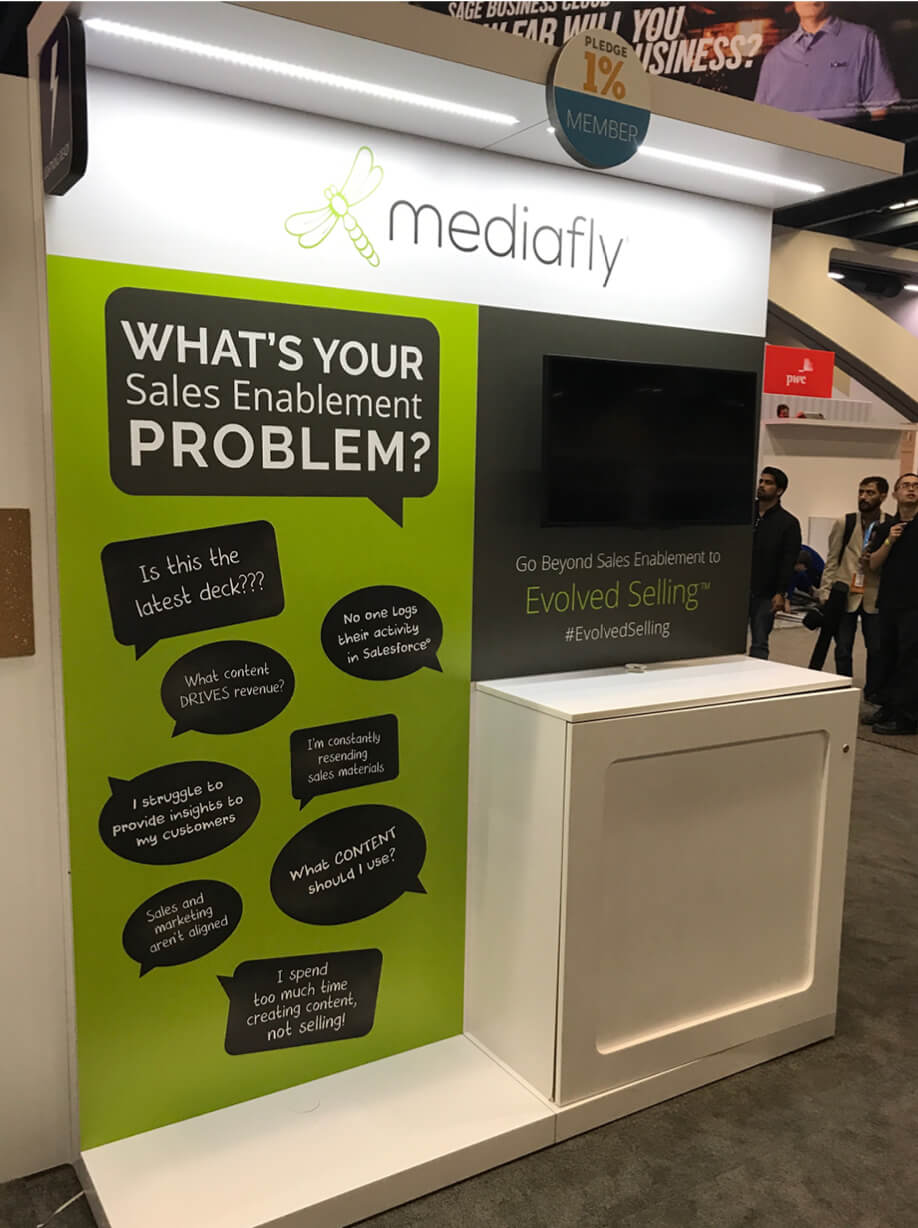Mediafly Dreamforce 2017 booth image 02