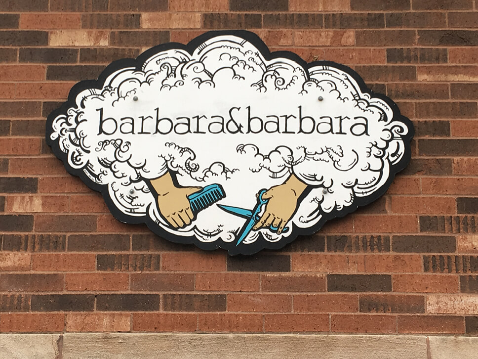 Barbara & Barbara Hair Salon Signage image