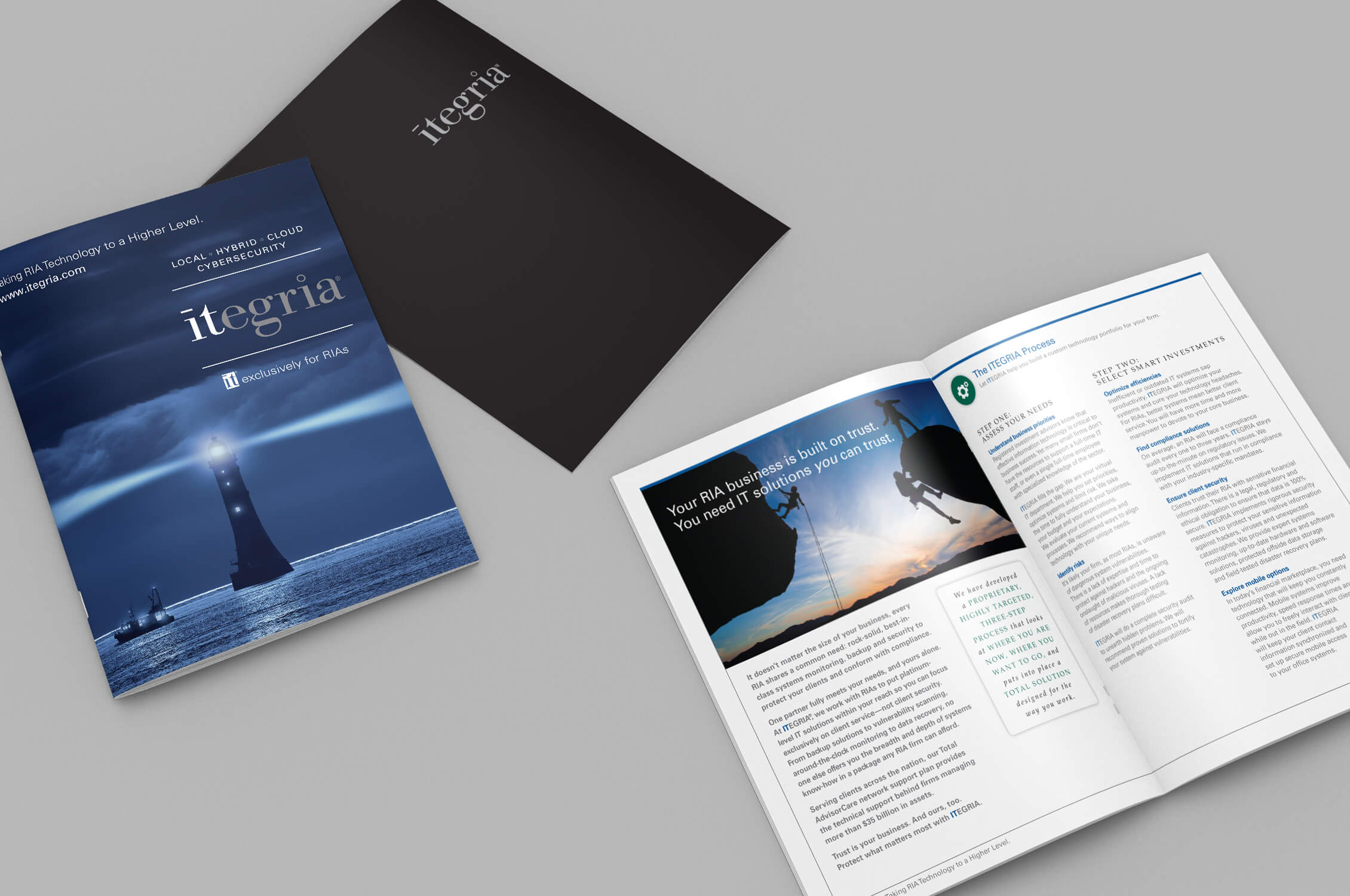 Itegria capabilities brochure and folder image