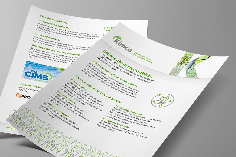 dtd kimco marketing materials csr flyer 6col