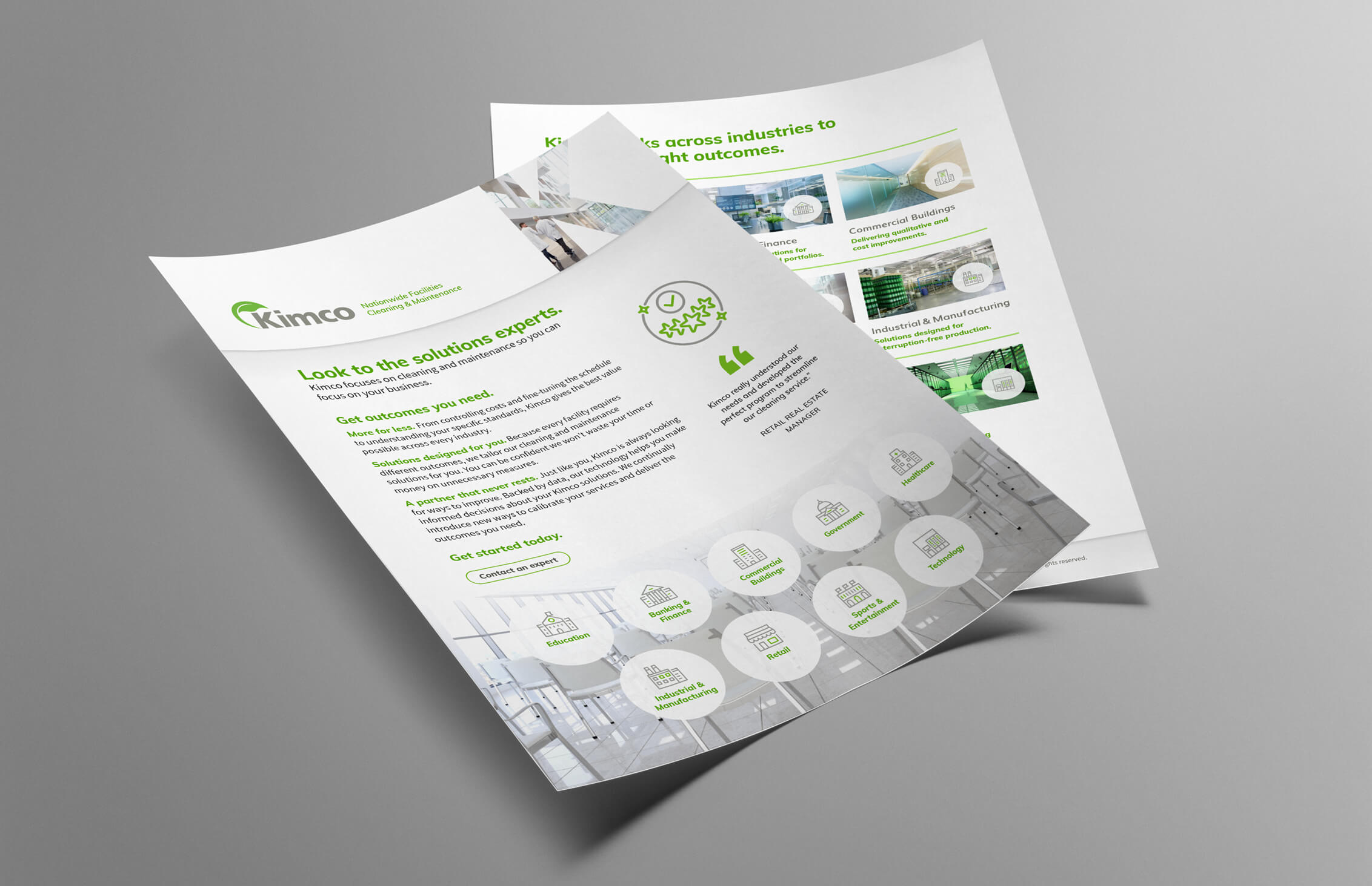 dtd kimco marketing materials industries flyer