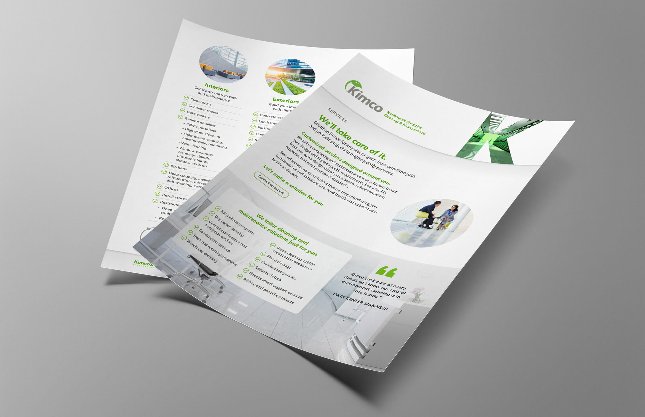 dtd kimco marketing materials services flyer