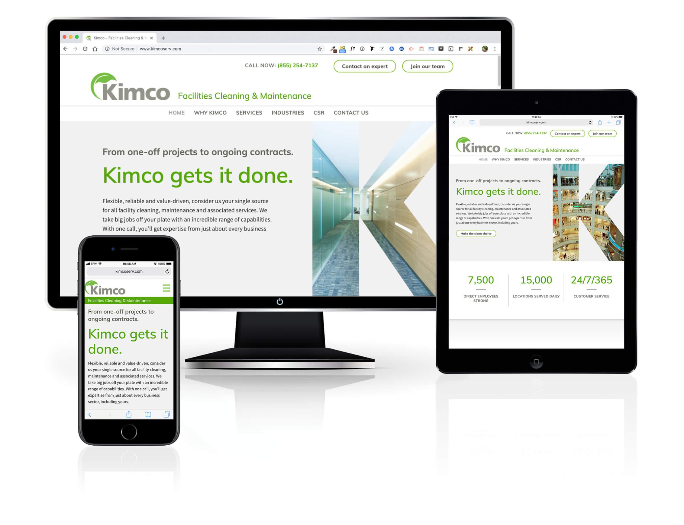 dtd kimco website responsive devices